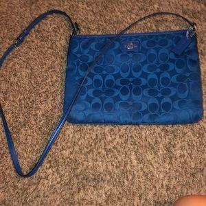 Like new Nylon/leather COACH crossbody bag